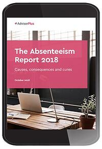 The Absenteeism Report in a portrait tablet